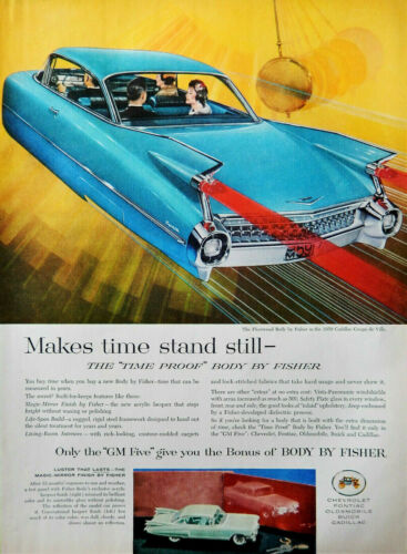 Vtg 1959 Fleetwood Body by Fisher Cadillac auto advertisement print ad