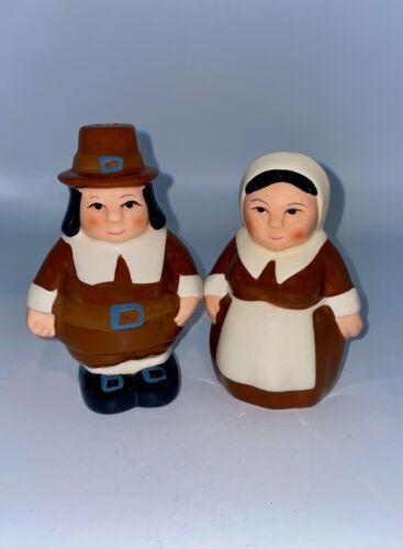 Portly Pilgrim Couple Salt & Pepper Shakers - Get Extras For Thanksgiving
