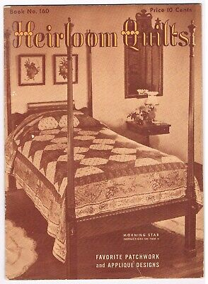 2 Vintage Quilting Booklets Heirloom Quilts & 31 Quilt Designs
