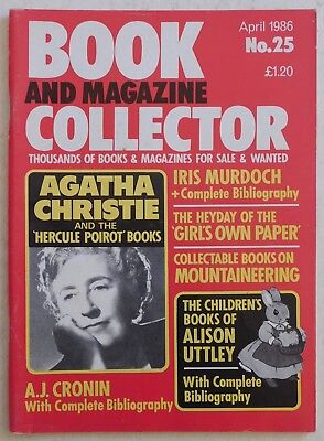 BOOK & MAGAZINE COLLECTOR #25 - 4/1986 - Agatha Christie, Alison Uttley
