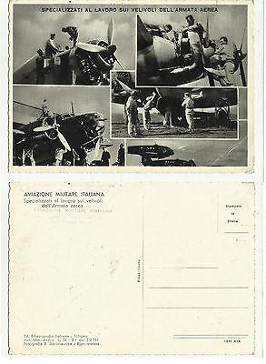 81332 anno 1941 specializzati al lavoro sui velivoli dell' armata aerea aereo