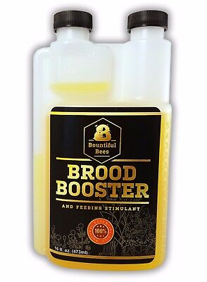 Brood Booster 16 oz / HONEY BEE FEEDING STIMULANT / Easy Measure Spout