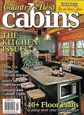 Country's Best Cabins Magazine The Kitchen Issue Floor Plans Under Cabinet