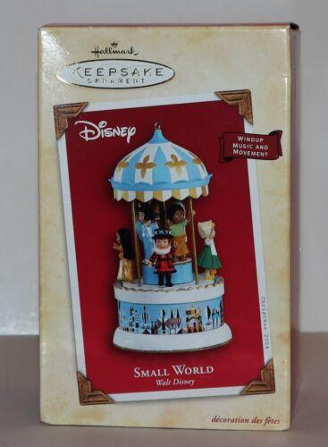 2004 Hallmark Keepsake Small World Walt Disney Xmas ornament music wind-up NIB