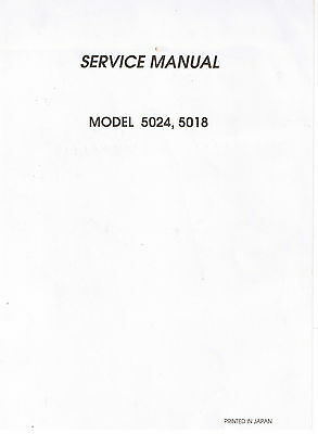Janome New Home Decor Excel II 5024 Service Guide Repair Manual + Parts List