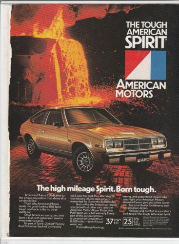 1982 AMC American Motors Spirit Magazine Ad - The High Mileage Spirit