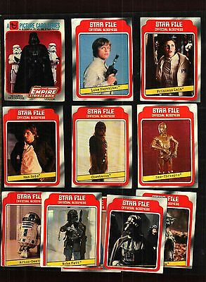 1980 Topps Empire Strikes Back Star Wars cards series 1 GOOD++ TO VG Condition