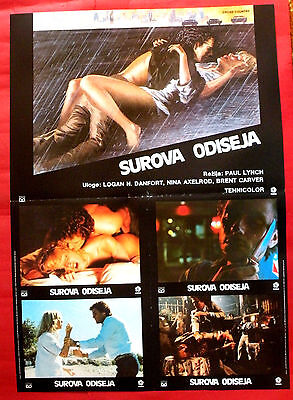 CROSS COUNTRY 1983 RICHARD BEYMER NINA AXELROD PAUL LUNCH EXYU MOVIE POSTER