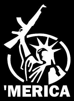 'MERICA VINYL DECAL CAR WINDOW BUMPER STICKER STATUE OF LIBE