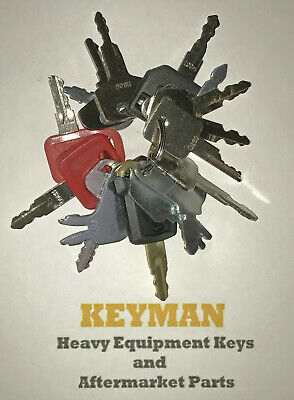 Keyman 16 Heavy Equipment Construction Ignition Keys Set Great Starter Set