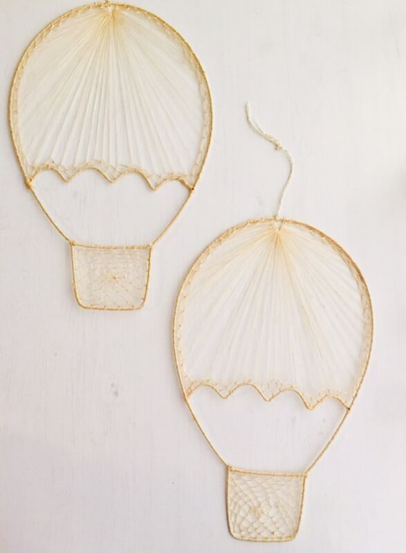 Hot Air Balloon hanging decor earthy neutral vintage baby