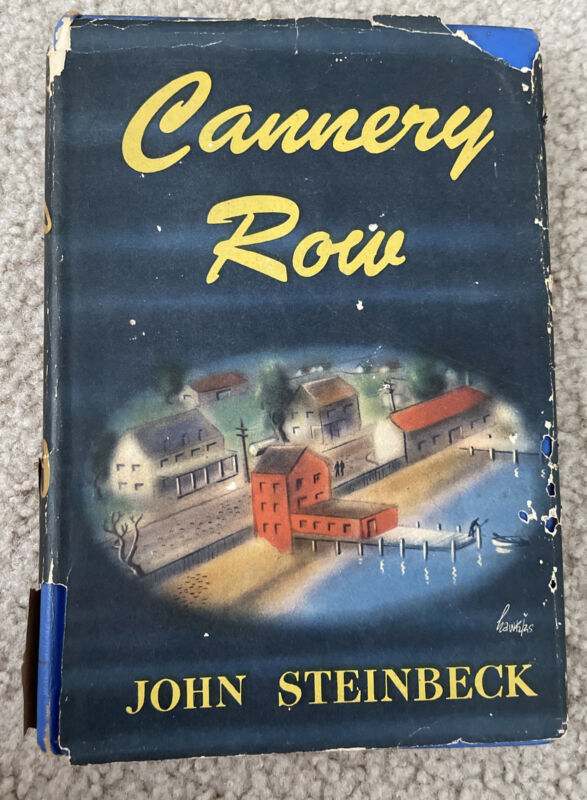 Cannery Row by John Steinbeck First Edition Book Club w/ Dust Jacket 1945 VTG