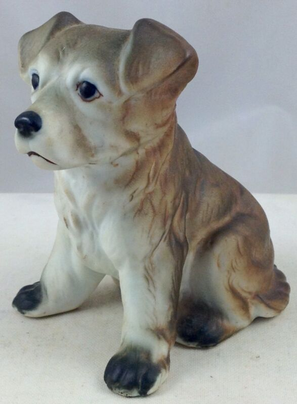 PUPPY DOG VINTAGE CERAMIC FIGURE