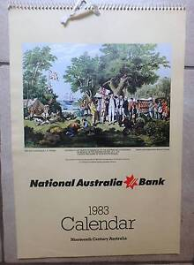 1983 Calendar National Australia Bank Mint Cond Greenwood Joondalup Area Preview