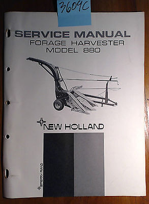 New Holland 880 Forage Harvester Service Manual 40088010 568