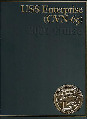 ☆* USS ENTERPRISE CVN-65 DEPLOYMENT CRUISE BOOK YEAR BOOK LOG 2007 - NAVY *☆