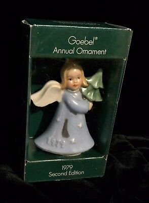 GOEBEL ANNUAL ORNAMENT w/box 1979 SECOND EDITION ANGEL HOLDING TREE w/Shadow