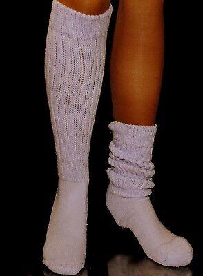 Lilac Lt purple  Slouch Knee Socks for Scrunchie Hooters Uniform flaw heavy long - Knee High Purple Socks