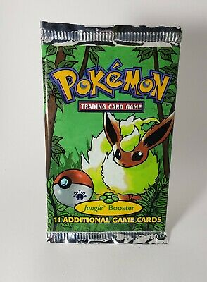 Pokemon 1st Edition Jungle Sealed Booster Pack Flareon Artwork Weighed Light
