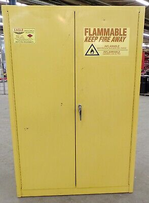 Eagle Flammable Cabinet 1947 45 Gallon Capacity Double Wall Steel