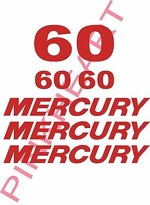 mercury outboard decal kit 60 hp decal stickers