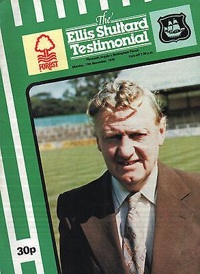 1979/80 Plymouth Argyle v Nottingham Forest, Stuttart Testimonial, PERFECT