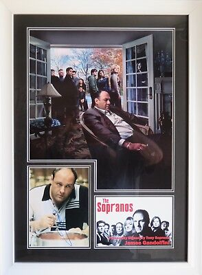 James Gandolfini Signed The Sopranos Photo Display Framed AFTAL RD#175