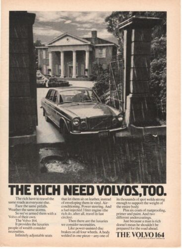 1973 ORIGINAL VINTAGE VOLVO CAR MAGAZINE AD