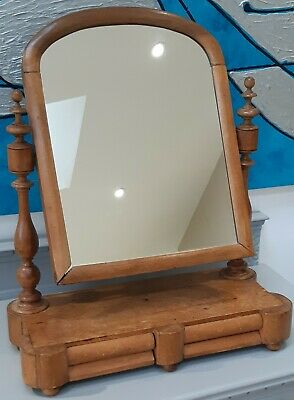 Antique Pine Tilting Dressing Table Mirror with 2 Drawers - Upcycle Project?