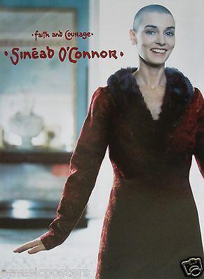 "SINEAD O'CONNOR ""FAITH AND COURAGE"" U.S. PROMO POSTER - Irish Alternative Rock"