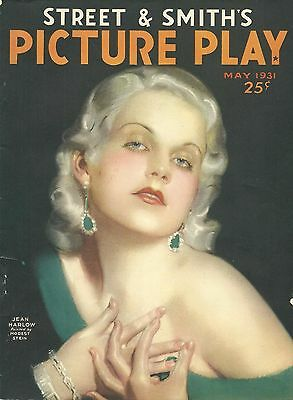 JEAN HARLOW'S 1ST COVER: PICTURE PLAY MAGAZINE 1931