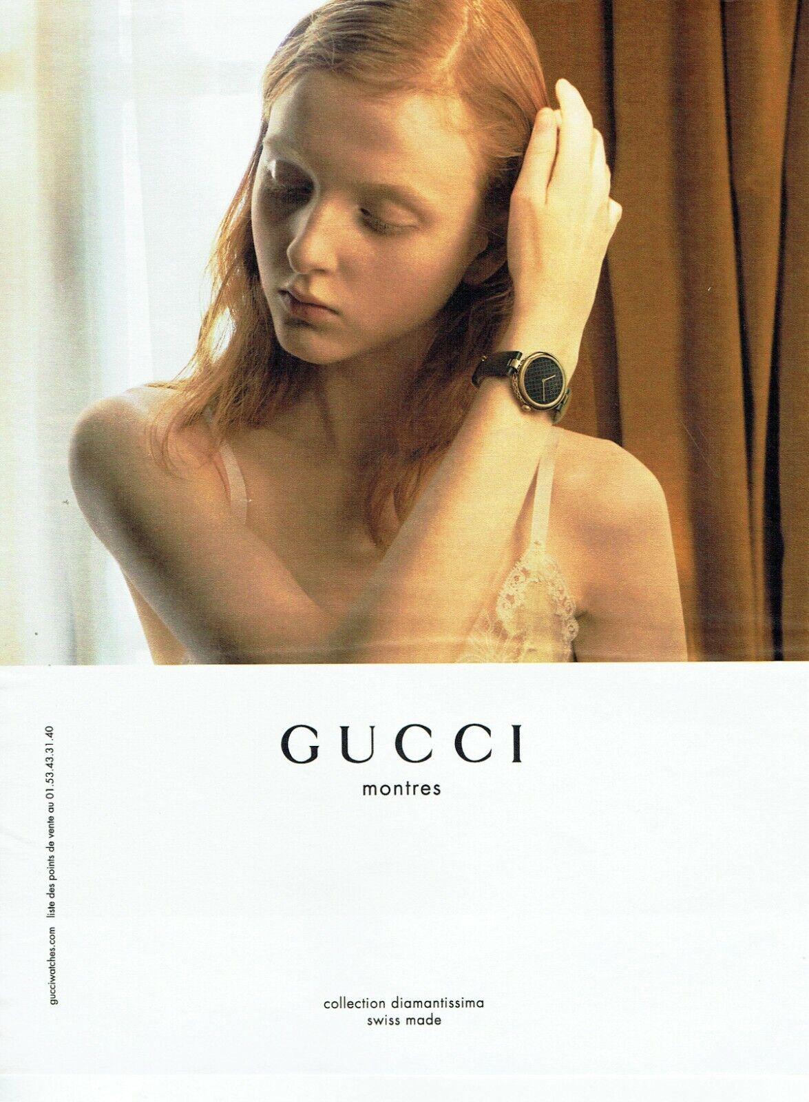Publicité advertising 1019  2015   gucci montre coll diamantissima