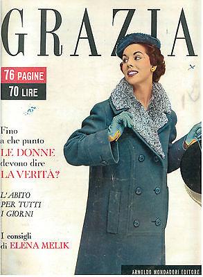 GRAZIA N. 765 16 OTTOBRE 1955 ITALIAN FASHION MAGAZINE MODA