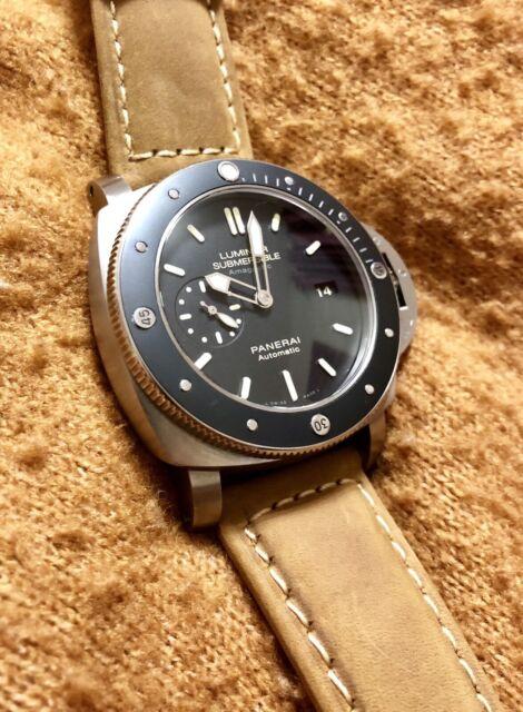 f633767bb58 Panerai Luminor Submersible Automatic Titanium Divers Watch ...