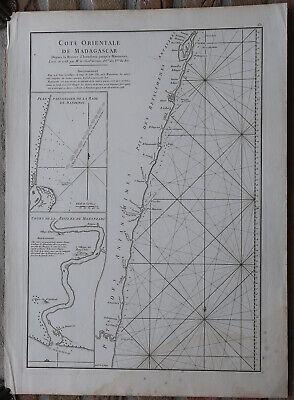 Antique Print-SEA CHART-AFRICA-MADAGASCAR-MANANJARY-Grenier-Mannevillette-1775