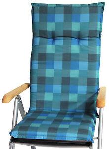karos in t rkis blau grau gartenstuhlauflagen kissen polster f r gartenm bel ebay. Black Bedroom Furniture Sets. Home Design Ideas