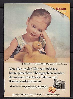 3w252/ Alte Reklame - von 1956 - KODAK - Filme und Kameras