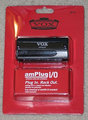 Vox amPlug I/O Guitar Headphone/USB Audio Interface w/tuner! Jamvox III download for sale  Shipping to India