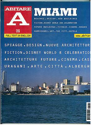 ABITARE NUM. 395 MAGGIO 2000 MIAMI RIVISTE ARCHITETTURA DESIGN URBANISTICA