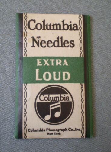 Vtg Antique COLUMBIA NEEDLES EXTRA LOUD Unopened Pack For Grafonolas Phonographs