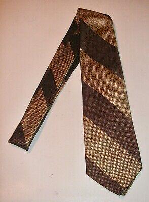 1960s – 70s Men's Ties | Skinny Ties, Slim Ties Vintage 1960s CHRISTIAN DIOR All Silk Tie - Gold Brown Stripe  $10.00 AT vintagedancer.com