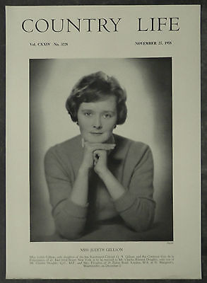 Judith Gillson / Charles Edward Doughty 1958 1 Page Photo Article