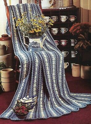 COUNTRY EYELET AFGHAN MILE A MINUTE CROCHET PATTERN INSTRUCTIONS Mile A Minute Crochet