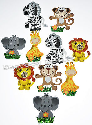 10 BABY SHOWER FAVORS GIFTS SAFARI DECORATION CENTERPIECE FOAM RECUERDOS MONKEY - Safari Decorations