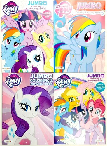 My Little Pony Jumbo Coloring & Activity Book 4-ct Set - 320 Pages of Activities