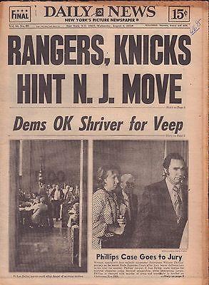 Daily News August 9 1972 Rangers, Knicks Hint N.J. Move 010917DBE
