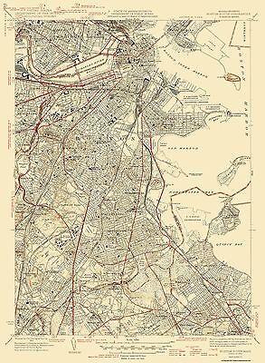 Boston North Massachusetts Quad - USGS 1946 - 17 x 23.13