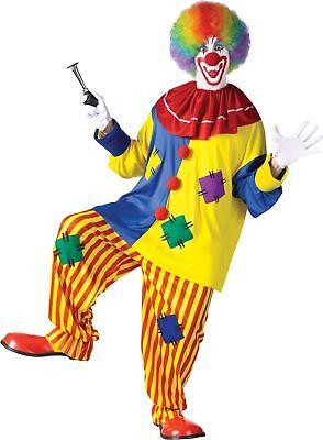 Big Top Clown Plus Size Adult Halloween Costume XL Men Women Top Pants Collar](Plus Size Clown Costume Women)