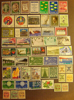 Iceland 52 Different Mint Never Hinged F-VF