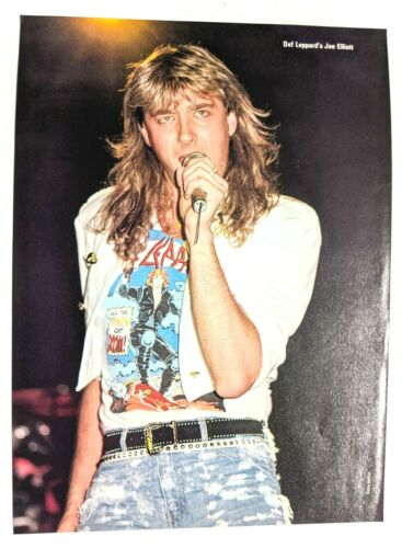 DEF LEPPARD / JOE ELLIOTT LIVE / MAGAZINE FULL PAGE PINUP POSTER CLIPPING (4)